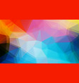flat triangle background vector image vector image