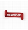 Friendship Day realistic red festive Banner vector image