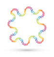 genetic frame created by spectrum dots vector image vector image
