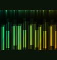 green speed bar overlap in dark background vector image vector image