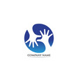 hand care adoption logo vector image