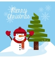 happy merry christmas vector image