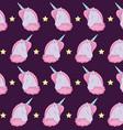 head cute unicorns of fairy tale pattern vector image vector image