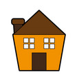 house or home with chimney icon image vector image vector image