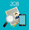 Job design over blue background vector image