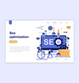 landing page template seo optimization vector image vector image