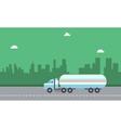 Landscape of road tanker on city backgrounds vector image vector image