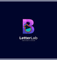 logo letter and lab gradient colorful style vector image