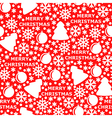 merry pattern red vector image vector image