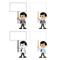 office men with blank sign vector image vector image