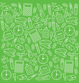 Office supplies seamless pattern vector image