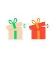 opened color gift boxes vector image vector image
