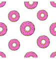 pattern with falling big and small donuts vector image