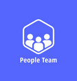 people team like together logo vector image vector image