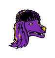 poodle head mascot vector image vector image