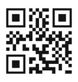 qr code black color isolated on background vector image