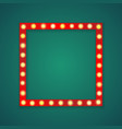 red light square frame background vector image