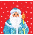 Russian Christmas and New Year Father Frost vector image
