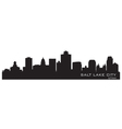 Salt Lake City Utah skyline Detailed city silhouet vector image vector image
