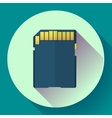 SDHC Memory card icon Flat design style vector image vector image
