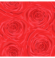 seamless background with red roses vector image vector image