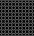 seamless dark pattern with tile white polka dots o vector image