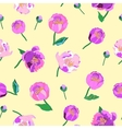 Seamless floral background Isolated lilac vector image vector image