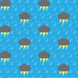 Seamless thunderbolt and raindrop vector image vector image