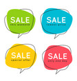 set flat speech bubble shaped banners price vector image vector image