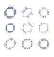 set flower frames vector image vector image