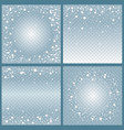 set of frames from falling snow effect vector image vector image