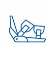Ski Binding Icon vector image