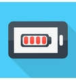 Smartphone Flat design Battery icon vector image vector image