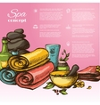 Spa Sketch Background vector image vector image