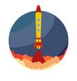 space rocket ship launch vector image vector image