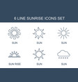 sunrise icons vector image vector image