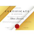 Template certificate design in gold color vector image vector image