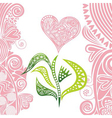 Valentines day card flower heart vector image vector image