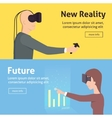 virtual reality set cartoon style vector image
