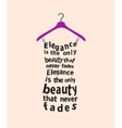 Woman dress with the quote vector image vector image