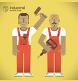 workers with tools vector image vector image