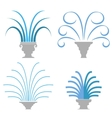 Fountain Icon Collection Isolated vector image