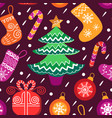 christmas seamless pattern happy holidays vector image