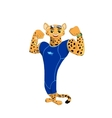 The jaguar athlete vector image