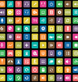 100 dj icons vector image