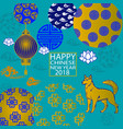 2018 chinese new year paper cutting year of dog vector image vector image