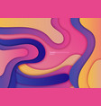 abstract 3d fluid gradient dynamic shape with vector image