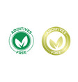 additives free leaf golden icon additives free no vector image vector image