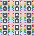 Alarm clock House Hand Retro phone Gear Snowflake vector image vector image