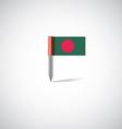 bangladesh flag pin vector image vector image